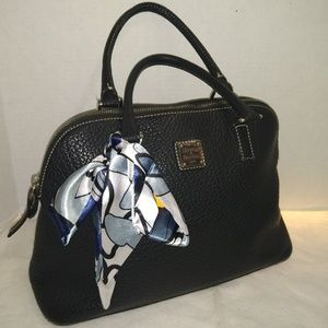 GREAT CLASSIC BLACK PEBBLED LEATHERS SATCHEL
